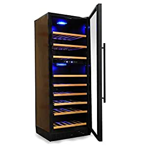 klarstein armoire vin design cave vin r frig r e et r glable 270 litres 120 bouteilles. Black Bedroom Furniture Sets. Home Design Ideas