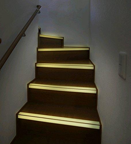 Fluoreszierende Küche Streifen-licht (1 Meter 25mm Breite Nachtleuchtend Antirutsch Band für Treppen und Stufen)