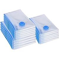 SONGMICS Pack de 15, 80 x 100/60 x 80/50 x 60 cm Bolsas al vacío 3 Tamaños para Ropa edredones Mantas Ahorro de Espacio RVM15T