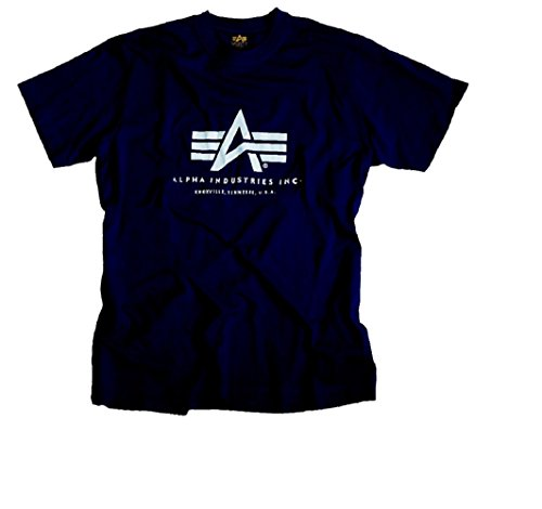 Alpha Industries Basic Logo T-Shirt Logo Shirt Navy