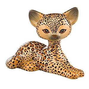 Goebel Kitty de Luxe* Leopard Kitty Relaxing Bunt