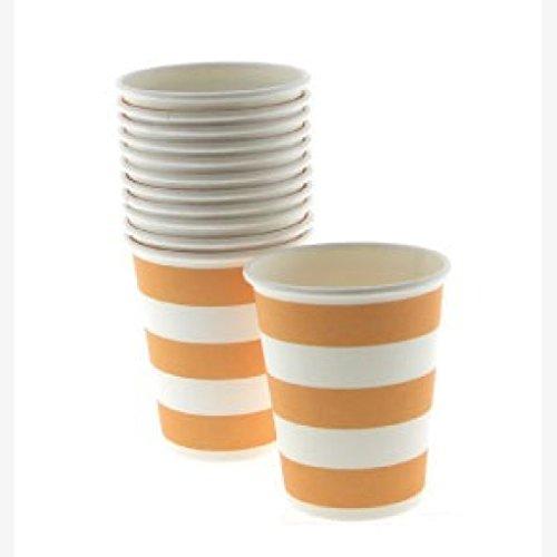 Motto Kostüme Safari (12 Pappbecher mit Orangenen und Weißen)