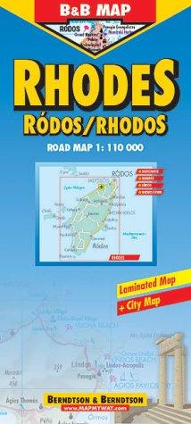 B & B Map, Rhodes -