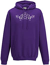 Cheeky Witch® Pretty Pentacle Design Pagan Wiccan Unisex Hoody