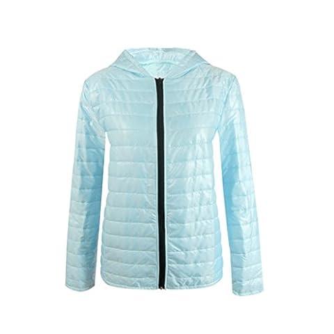 Bluestercool Veste Femmes Hiver Manche Longue Manteau à Capuche avec