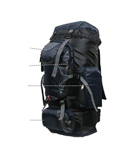 LAIDAYE Outdoor-Paket Bergsteigen Tasche 75L Große Kapazität Paket Reisetasche Rucksack Umhängetasche 4