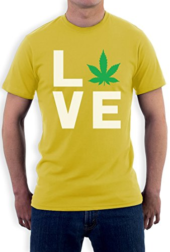 I Love Weed - Entspanntes Geschenk für Hanfmeister T-Shirt Gelb