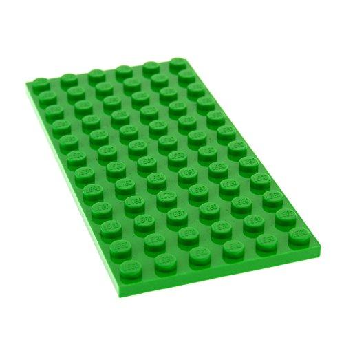 Preisvergleich Produktbild 1 x Lego System Bau Platte bright hell grün 6 x 12 für Set 21115 4432 21123 21128 41026 3028