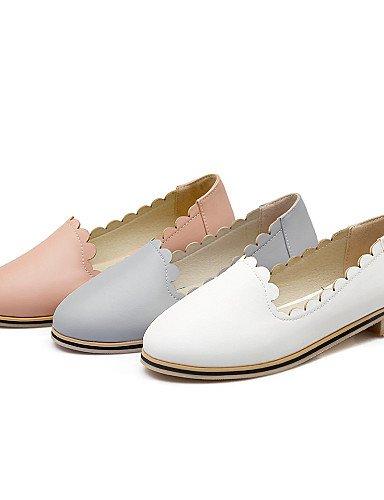 ZQ gyht Damenschuhe-Ballerinas-L?ssig-Kunstleder-Flacher Absatz-Komfort / Ballerina / Rundeschuh-Rosa / Wei? / Grau gray-us8 / eu39 / uk6 / cn39