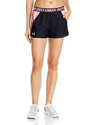 Shorts Running Coral (Under Armour Damen Play Up Shorts 2 Kurze Hose, Black/Cape Coral, M)