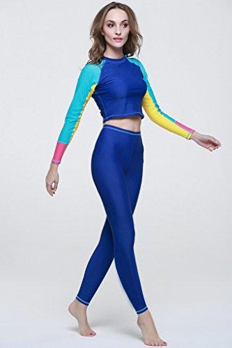 Legging de natation femme pantalon de protection UV de natation bain Mode - Bleu