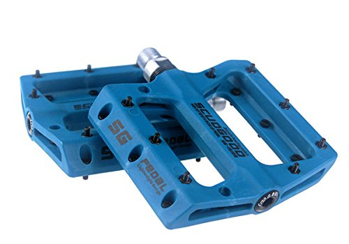 SCUDGOOD Mountainbike-Pedale, geringes Gewicht, 1 Paar, für AM/FR / DH/DJ / BMX (Blau)