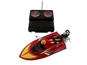 Digital Additions® Micro Remote Control RC Speedboat 1:64 Scale Red 27Mhz