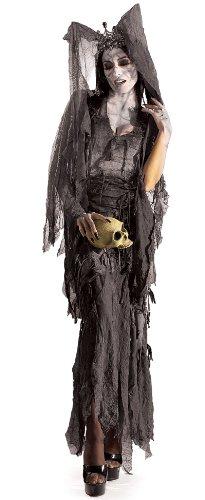 Lady Gruesome Fancy Dress Ladies Halloween (Kleid Spider Web Kostüme Erwachsene)