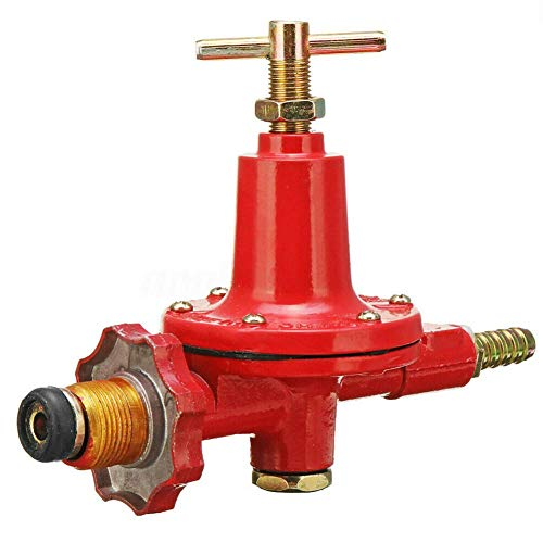 xiegons0 Gas Regler - Anti Explosion Hoch Druckventil Verpackt Propan Gas Regler Heim Zubehör für Calor Gas & Flogas - 16 cm, red -
