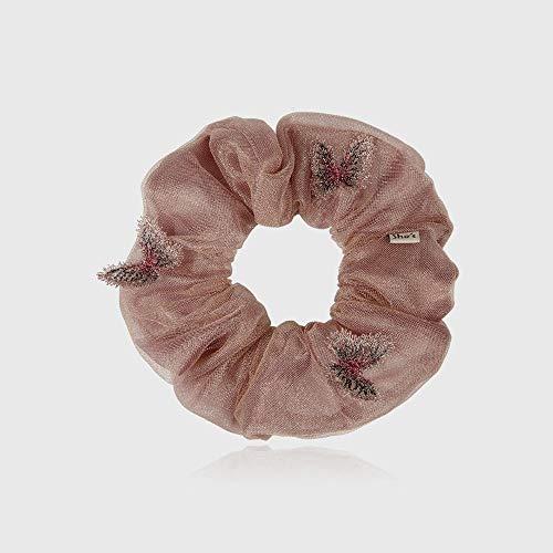 votovcom Mädchen Haarschmuck romantische Stickerei Schmetterling Haar Haar Ring Stoff Schachtelhalm Haar Seil Tiara Blume, E Stretch-lycra-ring
