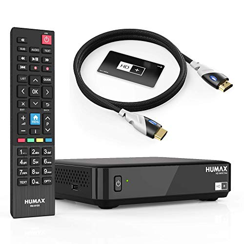 Humax Sat Receiver HD Nano Eco Set mit 4K HDMI Kabel - digital, dvb s, Schwarz