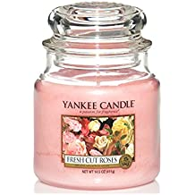 Yankee Candle Medium Jar Candle, Fresh Cut Roses