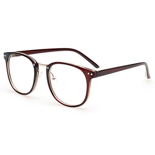 hibote Männer Frauen freie Objektiv-Geek / Nerd-Retro Wayfarer Brille X4 #Xier