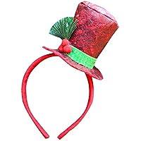 cheerfulus Diadema de Sombrero de muñeco de Nieve navideño para niños Adultos, niñas y niños: Talla única
