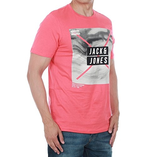 Jack & Jones Uomo Maglieria / T-shirt jcoMango Fire Rosso