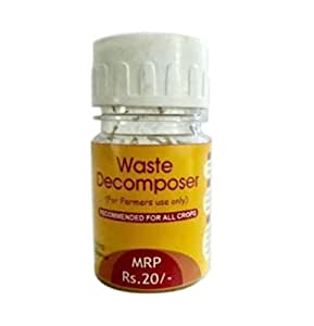 Organic Waste Decomposer Bottle of 30 ml / Rs 20 (+ Taxes 5% + Shipping)   Made by NCOF Technology   easy way to Convert Bio degradable waste to compost   Make organic compost / fertilizer from organic waste for farming   kitchen waste decomposer