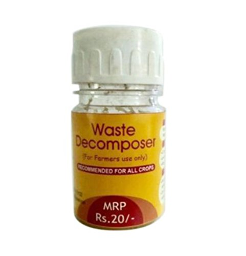 Organic Waste Decomposer Bottle of 30 ml / Rs 20 (+ Taxes 5% Extra), Made by NCOF Technology, easy way to Convert Bio degradable waste to compost, Make organic compost and fertilizer from organic waste for farming , kitchen waste decomposer