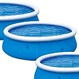 Cobertor Solar para alberca Denny Shop, para Piscinas inflables de 8 pies, 10 pies, 12 pies y 15 pies, de Crystals®