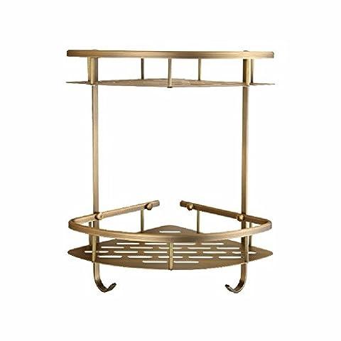 GJWC antike regale, retro - europ?ischen stil bad ecke frame, stativ dusche stehen (Nickel Poliert Kabinett Hardware)