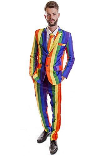 bogen-Design mit Hirsch-Anzug Gr. Größe L, Mehrfarbig - Mehrfarbig (Gay Pride Kostüme)