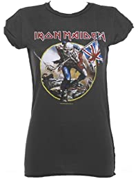Ladies Charcoal Iron Maiden Trooper T Shirt from Amplified