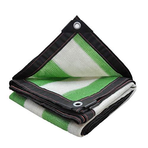 Lixin Filet d'ombrage épaississant extérieur pour parasol en polyéthylène haute densité (Couleur : White green, taille : 2M×3M)