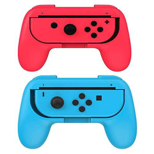 Boladge 2 x Game Controller Grip Schalter Links Gamepad Grip Right Gaming Comtroller Grip Für Nintendo Switch Joy-Con (Blau+Rot) X-games