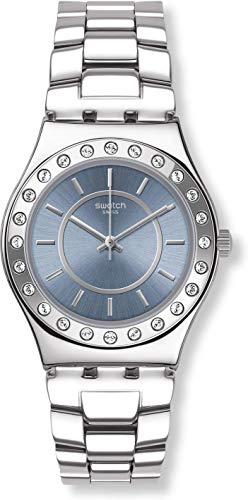 Swatch orologio analogico quarzo donna con cinturino in acciaio inox yls206g