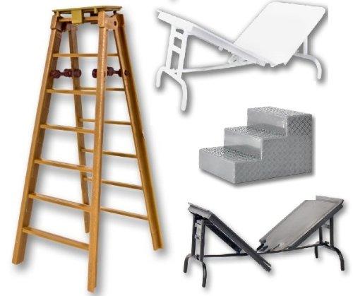 Brown Ladder / Tabelle / Stufen Set - Wrestling Figur Zubehör (für Jakks oder Mattel WWE Figuren)