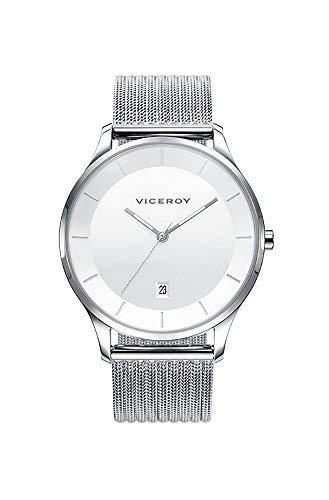 Viceroy 42299-07 - Reloj Hombre Acero Esfera Blanca