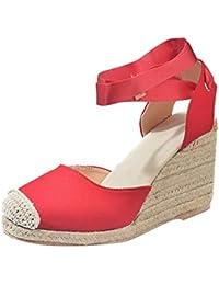 2019 Nuevo Moda Mujer Zapato Con Cuña Plataforma Sandalias De Vestir Con Cordones Zapato EleganteChic De Boda Fiesta Zapatillas De…