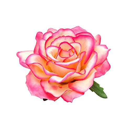 Ssowun Blumen Haarspangen 2 Stück,Haarclip Blume Frauen Rose Blume Haar Clip Haarspange Corsage Brosche Party Strand Hochzeit EINWEG Verpackung (Blume Corsage)