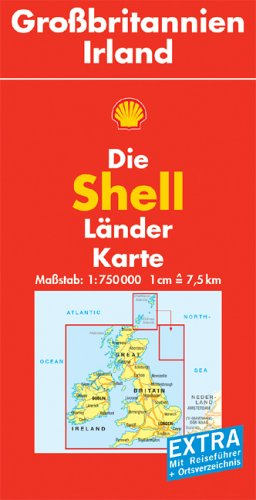 Shell Länderkarte. Großbritannien, Irland. 1 : 750 000 par Ralph Alexander