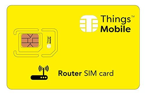 DATEN-SIM-Karte für ROUTER - Things Mobile - mit weltweiter Netzabdeckung und Mehrfachanbieternetz GSM/2G/3G/4G. Ohne Fixkosten und ohne Verfallsdatum. 10 € Guthaben inklusive