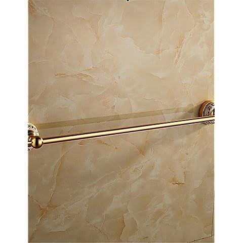 haisi accessori da bagno/Portasciugamani/Racks/ganci/dentifricio/spazzola/fine sapone dispenser per box porta asciugamani, antico alluminio montaggio a parete
