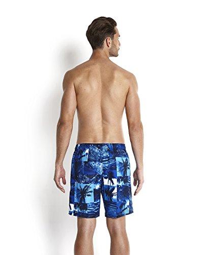 Speedo Leisure Short de bain Homme Tropiques Bleu Marine/Deep Peri/Bleu Poudre