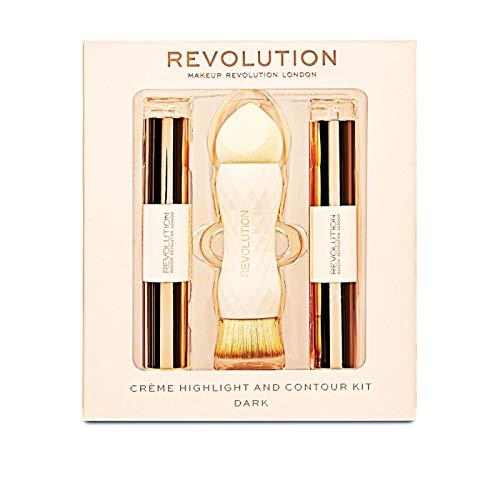Makeup Revolution - Makeup Set - Crème Highlight and Contour Kit - Dark - Highlight Kit