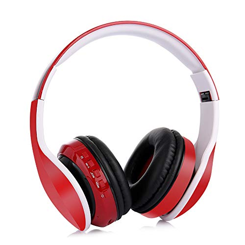 Control Mobile Phone Pc (QUARK Bluetooth-Headset, Multi-Use USB-Kopfhörer & Chat Gaming Headset In-line-Control für Mac PC Mobile Phone,Red)