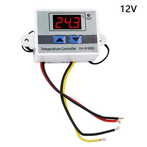 Digital LED Temperaturregler Modul, XH-W3001 Thermostatschalter mit wasserdichter Sonde Max 10A, programmierbare Heizung Kühlthermostat Thermoregler -