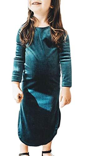 security Girl Velvet Round Neck Bodycon Vintage Long Sleeve Party Dress
