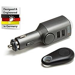 Technaxx Alarme de Voiture avec Fonction de Chargement TX-100 Surveillance des Intérieurs des Véhicules avec Capteur de Mouvement PIR