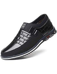 Mocasines Zapatos de Uniforme Cuero de Tobillo Conducción para Hombre Mocasín Clásico Barco Zapatos Oficina Negocios sin Cordones Casuales Ligeros para al Aire Libre