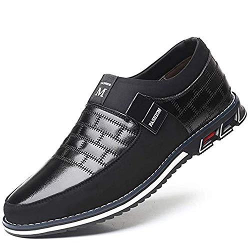 Mocasines Zapatos de uniforme Cuero de Tobillo Conducción Para Hombre Mocasín Clásico Barco Zapatos...
