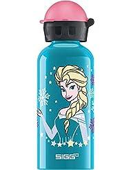 SIGG Elsa, Kinder Trinkflasche, 0.4 L, Auslaufsicher, BPA Frei, Aluminium, Blau